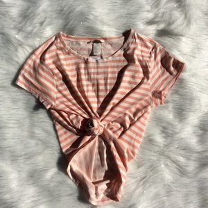 Tops - 🛍Peach with striped T-shirt